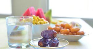 Assorted food for Iftar during Ramadan