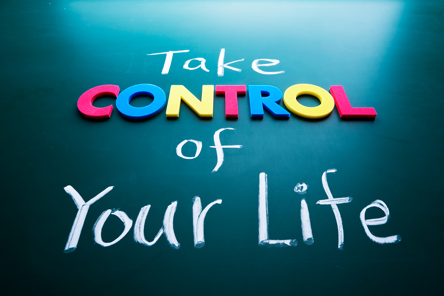 Take Control Of Your Life Concept